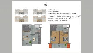 New Apartments in Avsallar Alanya with Nature and Sea View, Property Plans-10
