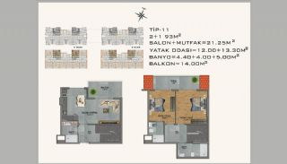New Apartments in Avsallar Alanya with Nature and Sea View, Property Plans-11