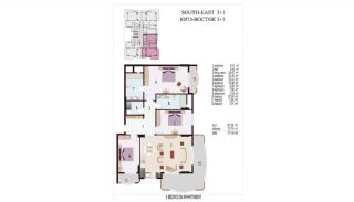 High Quality Apartments 100 mt to the Beach in Mahmutlar, Property Plans-4