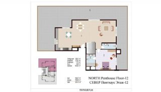 High Quality Apartments 100 mt to the Beach in Mahmutlar, Property Plans-7