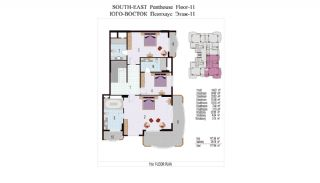 High Quality Apartments 100 mt to the Beach in Mahmutlar, Property Plans-9