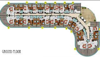 شقق فندقية مطلة على البحر في ألانيا محمودلار, مخططات العقار-4