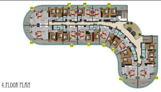 Hotel Concept Properties with Sea View in Alanya Mahmutlar, Property Plans-8