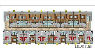 شقق فندقية مطلة على البحر في ألانيا محمودلار, مخططات العقار-18