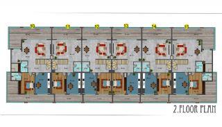 شقق فندقية مطلة على البحر في ألانيا محمودلار, مخططات العقار-19
