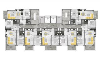 5-Stars Hotel Concept Apartments in Alanya Avsallar, Property Plans-1