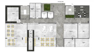 5-Stars Hotel Concept Apartments in Alanya Avsallar, Property Plans-3