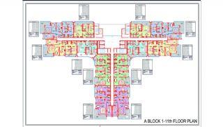Новые Квартиры в Центре Махмутлара, Алания, Планировка -1