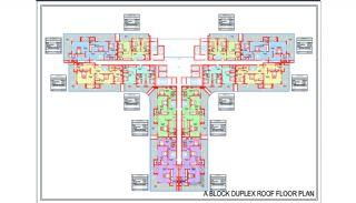 Новые Квартиры в Центре Махмутлара, Алания, Планировка -3
