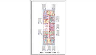 Новые Квартиры в Центре Махмутлара, Алания, Планировка -4