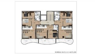 Stylish Property Close to the Beach in Alanya, Mahmutlar, Property Plans-1