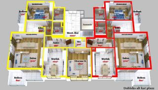 New-Build Comfortable Apartments in Alanya, Oba, Property Plans-2