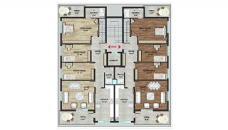 New Alanya Apartments Walking Distance to Private School, Property Plans-3