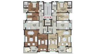 New Alanya Apartments Walking Distance to Private School, Property Plans-5