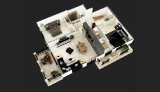 Luxus Wohnungen im Zentrum von Mahmutlar Alanya, Immobilienplaene-5
