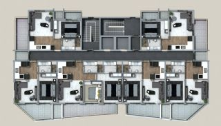 Exclusive Properties in the Deluxe Complex in Alanya, Property Plans-1