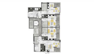 Modern Apartments 350 mt to the Beach in Mahmutlar Alanya, Property Plans-1