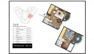 Flats with Excellent Nature and City Views in Alanya, Property Plans-4