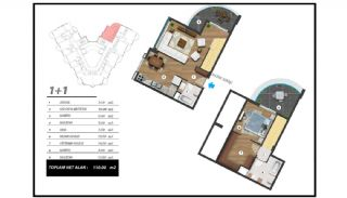 Flats with Excellent Nature and City Views in Alanya, Property Plans-5