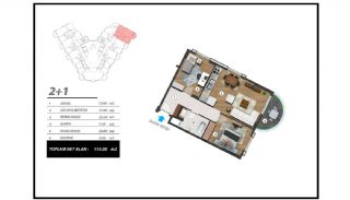 Flats with Excellent Nature and City Views in Alanya, Property Plans-6