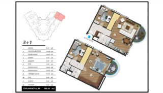 Flats with Excellent Nature and City Views in Alanya, Property Plans-9