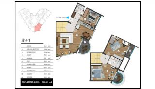 Flats with Excellent Nature and City Views in Alanya, Property Plans-10