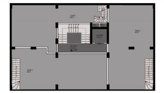 Квартиры в Каргыджаке в Алании в 50 Метрах от Пляжа, Планировка -1