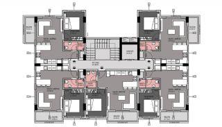 Квартиры в Каргыджаке в Алании в 50 Метрах от Пляжа, Планировка -3