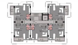 Квартиры в Каргыджаке в Алании в 50 Метрах от Пляжа, Планировка -4