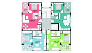 Wohnungen 50 m vom berühmten Cleopatra Strand in Alanya, Immobilienplaene-2