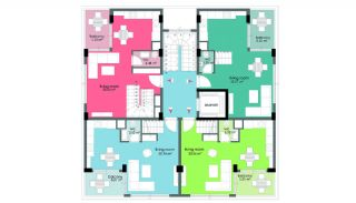 Wohnungen 50 m vom berühmten Cleopatra Strand in Alanya, Immobilienplaene-3