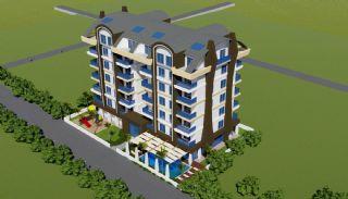 شقق حديثة البناء تبعد 700 متر عن الشاطئ في ألانيا, الانيا / محمودلار - video