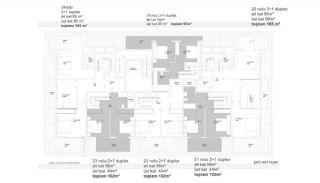 Квартиры в Центре Алании в 300 Метрах от Пляжа Клеопатры, Планировка -3