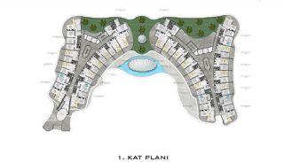 Lyxiga Lägenheter med Havsutsikt i Kargicak Alanya, Planritningar-1
