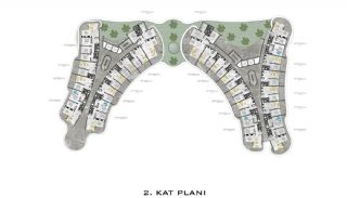 Lyxiga Lägenheter med Havsutsikt i Kargicak Alanya, Planritningar-2
