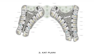 Luxurious Apartments with Sea View in Kargicak Alanya, Property Plans-3
