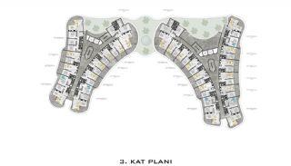 Lyxiga Lägenheter med Havsutsikt i Kargicak Alanya, Planritningar-3