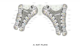 Lyxiga Lägenheter med Havsutsikt i Kargicak Alanya, Planritningar-4