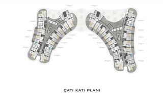Lyxiga Lägenheter med Havsutsikt i Kargicak Alanya, Planritningar-6