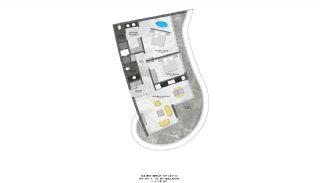 Lyxiga Lägenheter med Havsutsikt i Kargicak Alanya, Planritningar-9