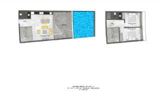 Lyxiga Lägenheter med Havsutsikt i Kargicak Alanya, Planritningar-10