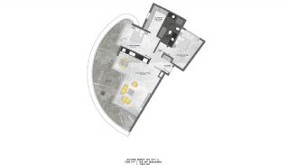 Lyxiga Lägenheter med Havsutsikt i Kargicak Alanya, Planritningar-11