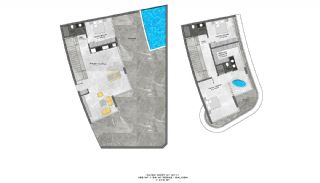 Lyxiga Lägenheter med Havsutsikt i Kargicak Alanya, Planritningar-13