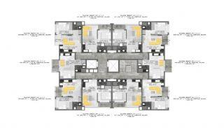 Nouveaux Immobiliers à 250 M de la Mer Au Centre d'Alanya, Projet Immobiliers-4