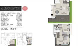 Creative Designed Apartments with Sea View in Alanya, Property Plans-1