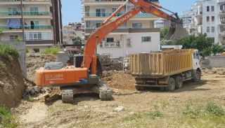 Nya lägenheter 500 meter till stranden i Mahmutlar Alanya, Byggbilder-1