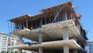 Nya lägenheter 500 meter till stranden i Mahmutlar Alanya, Byggbilder-4