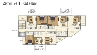 Brand New Flats in Alanya 200 mt to Mahmutlar Center, Property Plans-2