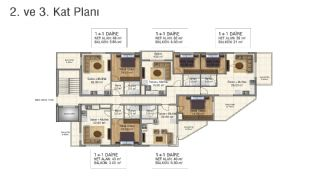 Brand New Flats in Alanya 200 mt to Mahmutlar Center, Property Plans-3