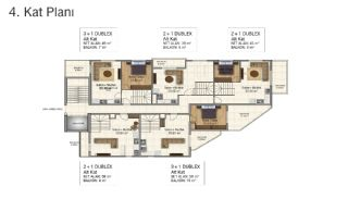 Brand New Flats in Alanya 200 mt to Mahmutlar Center, Property Plans-4